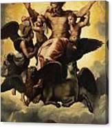 Gottvater In Wolken Canvas Print
