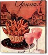 Gourmet Cover Featuring A Basket Of Potato Curls Canvas Print