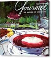 Gourmet Cover Featuring A Bowl Of Borsch Canvas Print