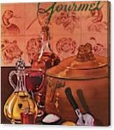 Gourmet Cover Featuring A Casserole Pot Canvas Print