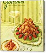 Gourmet Cover Featuring A Plate Of Beignets Canvas Print