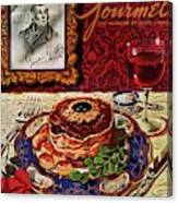 Gourmet Cover Featuring A Plate Of Tournedos Canvas Print