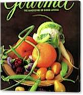 Gourmet Cover Featuring A Variety Of Fruit Canvas Print
