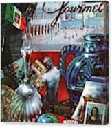 Gourmet Cover Featuring A Variety Of Italian Canvas Print