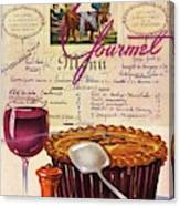 Gourmet Cover Illustration Of Deep Dish Pie Canvas Print