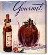 Gourmet Cover Illustration Of Flaming Chocolate Canvas Print