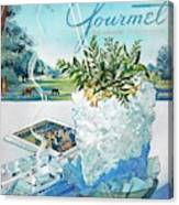 Gourmet Cover Illustration Of Mint Julep Packed Canvas Print
