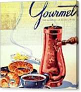 Gourmet Cover Of A French Breakfast Canvas Print
