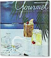 Gourmet Cover Of Cocktails Canvas Print