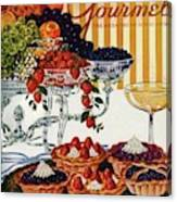 Gourmet Cover Of Fruit Tarts Canvas Print