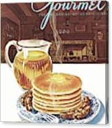Gourmet Cover Of Pancakes Canvas Print