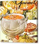 Gourmet Cover Of Pumpkin Soup Canvas Print