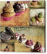 Gourmet Delights - Collage Canvas Print