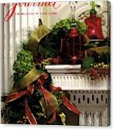 Gourmet Magazine Cover Featuring Christmas Garland Canvas Print