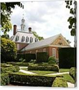 Governers Palace Garden Colonial Williamsburg Va Canvas Print