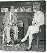 Governor George Wallace Meets Mrs Margeret Thatcher At The Canvas Print