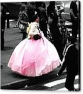 Gown Of Pink Canvas Print