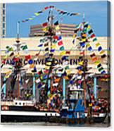 Tampa Convention Center And Gasparilla Canvas Print