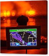 Gps With The Holuhraun Fissure Eruption Canvas Print