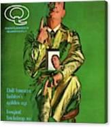 Gq Cover Featuring Salvador Dali Canvas Print