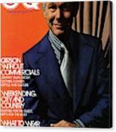 Gq Cover Of Johnny Carson Wearing Suit Canvas Print