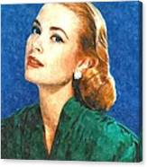 Grace Kelly Painting Canvas Print