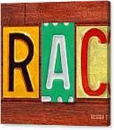 Grace License Plate Name Sign Fun Kid Room Decor. Canvas Print