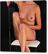 Grace Nude Relaxing On A Chair Canvas Print