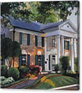 Graceland Home Of Elvis Canvas Print