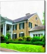 Graceland Mansion Canvas Print
