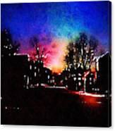 Graduate Housing Princeton University Nightscape Canvas Print