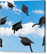 Graduation Mortar Boards Canvas Print