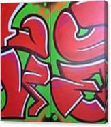 Graff Love Canvas Print