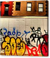 Graffit With Taxi Canvas Print