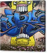 Graffiti Art Curitiba Brazil 7 Canvas Print
