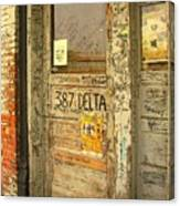 Graffiti Door - Ground Zero Blues Club Ms Delta Canvas Print