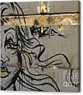 Graffiti Girl Canvas Print