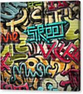 Graffiti Grunge Texture. Eps 10 Canvas Print