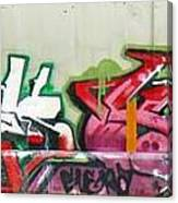Graffiti Hot Red Hot Pink Canvas Print