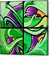 Graffiti In Green Canvas Print