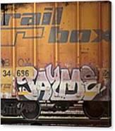 Graffiti - Jayme Doll Canvas Print