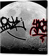 Graffiti On The Moon Canvas Print