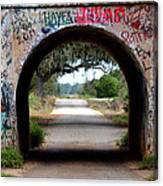 Graffiti Tunnel Canvas Print