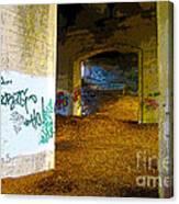 Graffiti Under The Bridge Canvas Print
