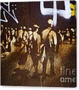 Graffiti Walk Together Canvas Print