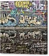 Graffity Reflection Canvas Print