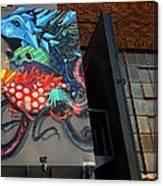 Grafitti And The Panes Canvas Print