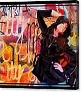 Grafitti Lovely Canvas Print