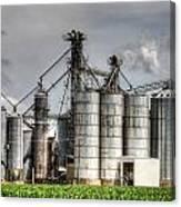 Grain Elevators Canvas Print