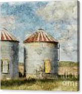 Grain Silos - Digital Paint Canvas Print